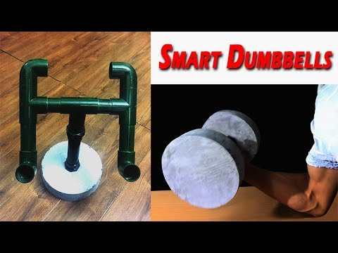 How to Make a Dumbbell - Adjustable to the Laptop Stand/ DIY! Home Gym Equipment