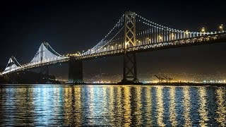 Instrumental Background Chillout Music: Easy Listening Relaxing Lounge Music, Bay Bridge At Night