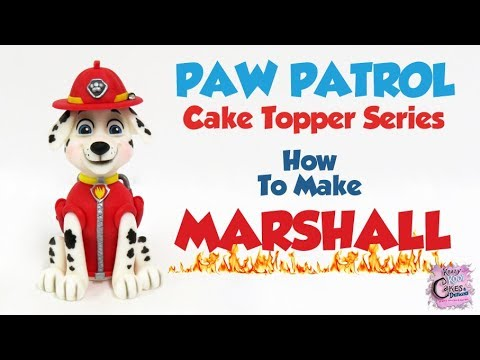 MARSHALL PAW PATROL Cake Topper! How To Make A Marshall Cake Topper