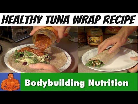 Healthy Tuna Wrap Recipe - Quick & Easy Bodybuilding Meal