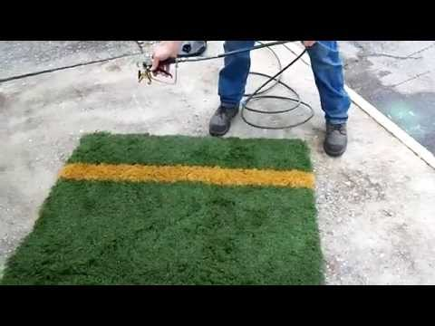 How To Paint Artificial Turf Lines