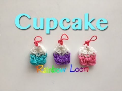 EASY Rainbow Loom Cupcake Charms