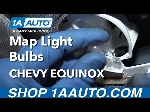 How to Install Replace Interior Map Light Bulbs 2008 Chevy Equinox Buy Auto Parts at 1AAuto.com
