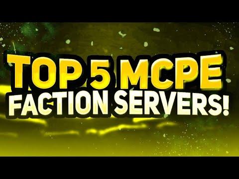 TOP 5 MINECRAFT PE FACTION SERVERS! (Best Faction Server v1.2)