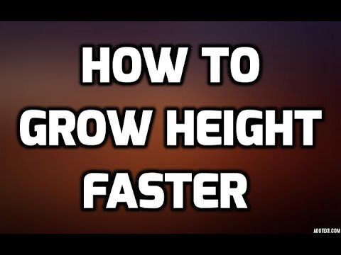 How to Grow Height Faster | Grow 3 Inches in 6 Weeks