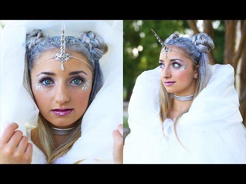 🦄 Unicorn Half-Up Hairstyle | DIY Halloween Costumes | Cute Girls Hairstyles 🦄