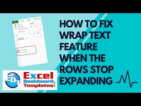 How to Fix Excel Wrap Text Feature When the Rows Stop Expanding