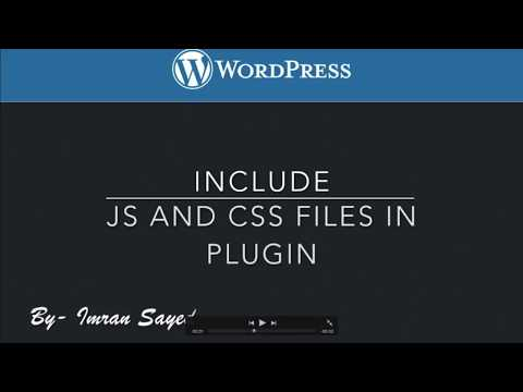 Include Javascript and CSS Plugin File in WordPress Frontend