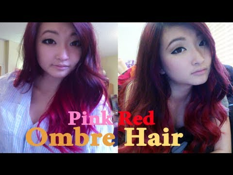 Hair Update! Pink to Red Ombre