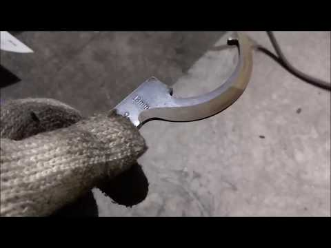 How to make a Crazy Round Machete or Captain Hook..or..Ax