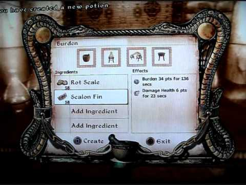 TES4: Oblivion   How to Master Alchemy (Only 10 mins)