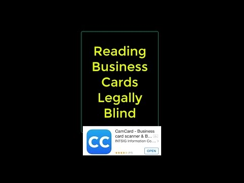 Reading Business Cards Legally Blind