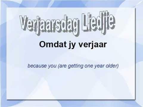 Afrikaans Happy Birthday