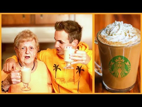 my grandma yells at me while making pumpkin spiced latte's