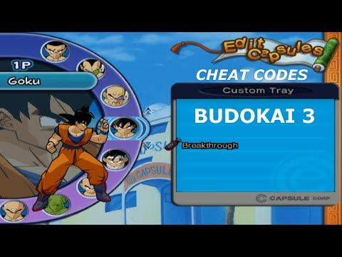 Budokai 3 Cheat Codes : All capsules unlocked and give 900000 zenie to the player