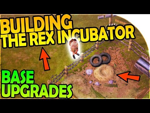 BUILDING the REX INCUBATOR + JURASSIC BASE UPGRADES - Jurassic Survival Gameplay