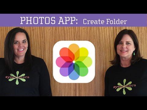 iPhone / iPad Photos App - Create Folders