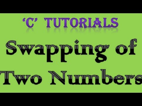 C Programming Tutorial - 22 Swapping of Two number easy way