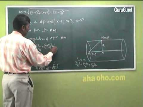 Unit-2 Three Dimensional Analytical Geometry (Equation & Right Circular Cylinder) - Mathematics