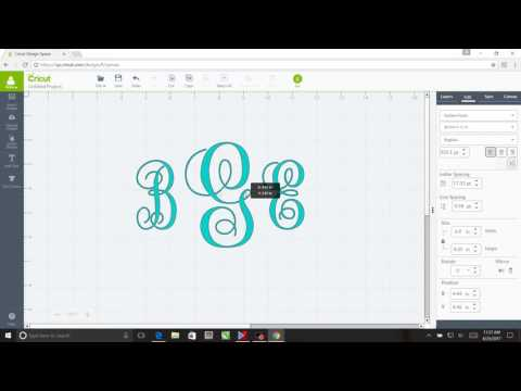 How to Create a basic Monogram using Cricut Design Space