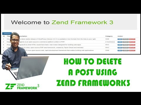 How to Delete a Post using Zend Framework3 Part-10