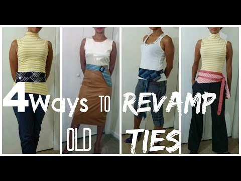 4 Ways to Revamp:Upcycle Old Ties
