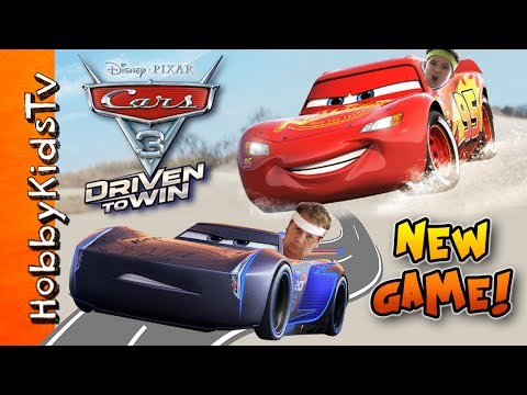 NEW Disney/Pixar Cars 3: Driven to Win Video Game! By HobbyKidsTV
