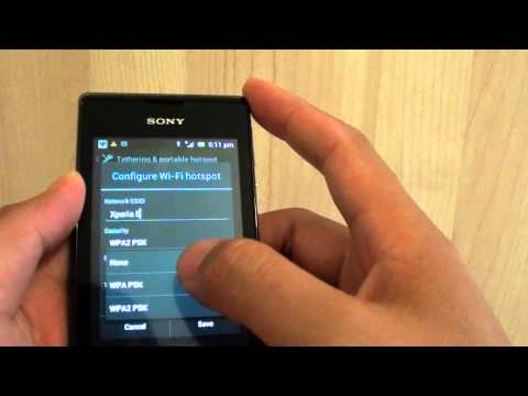 Sony Xperia E: How to Set a Password to the Wi-Fi Hotspot