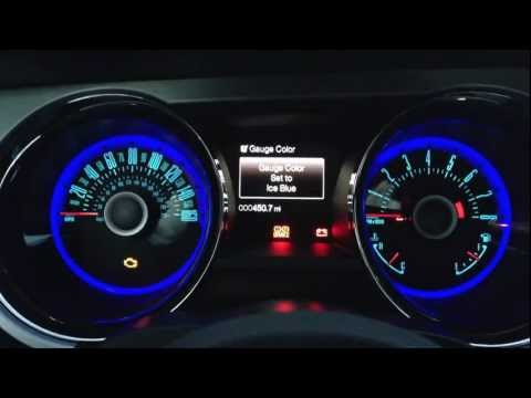 2013 Ford Mustang GT - Changing gauge and halo colors