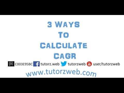 3 ways to calculate CAGR in excel