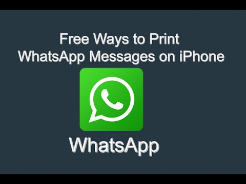 2 Free Ways to Print WhatsApp Messages from iPhone 7/6/6s/6 plus/6s plus