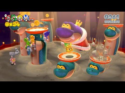 Super Mario 3D World: 3-B A Banquet with Hisstocrat (All Stars & Stamp) [Gameplay Walkthrough]