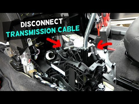 HOW TO DISCONNECT TRANSMISSION CABLES SHIFTER CABLES