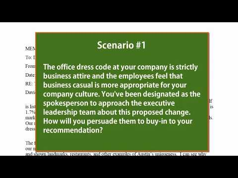 How to Write a Persuasive Business Memo: Scenario #1 (Dress Code)