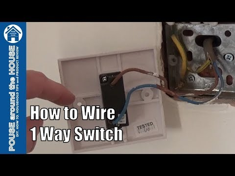 How to wire a 1 way light switch. One way lighting explained.