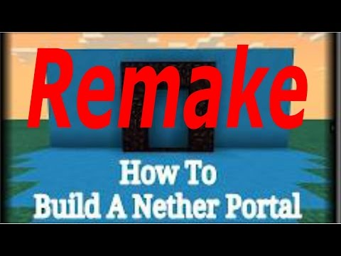 (0.10.0) Minecraft Pe - Creation World #1 How To Build A Nether Portal REMAKE
