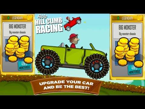 Hill Climb Racing Garage - BIG MONSTER  Full Upgrade Legendary Parts