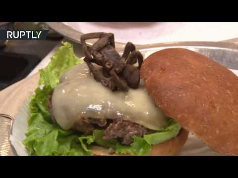 Taste your fear? Burger with spiders served in US (GRAPHIC... for those with Arachnophobia)