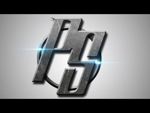 Photoshop CS6 Tutorial - Logo Design (Metal)