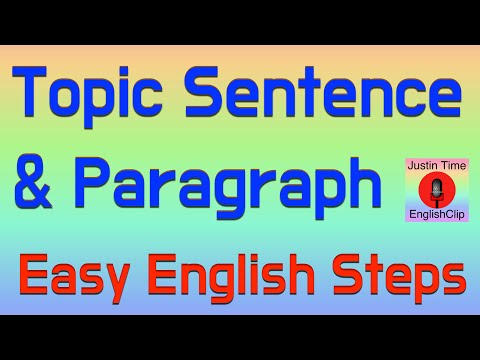 How to Write Basic Topic Sentences & Paragraphs  ESL Color Code