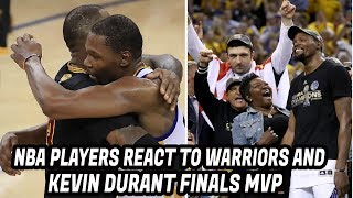 NBA Players REACT to Warriors 2017 CHAMPIONSHIP and Kevin Durant Finals MVP! GAME 5 Cavs vs Warriors
