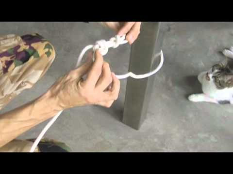 Knot School #2 - How to anchor and tension a rope