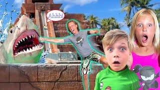 Riding the Shark Slide in Atlantis! Overcoming Fear!