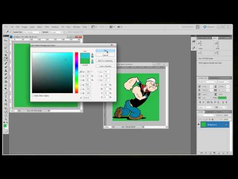 How to remove your background color from your image using Photoshop CS5
