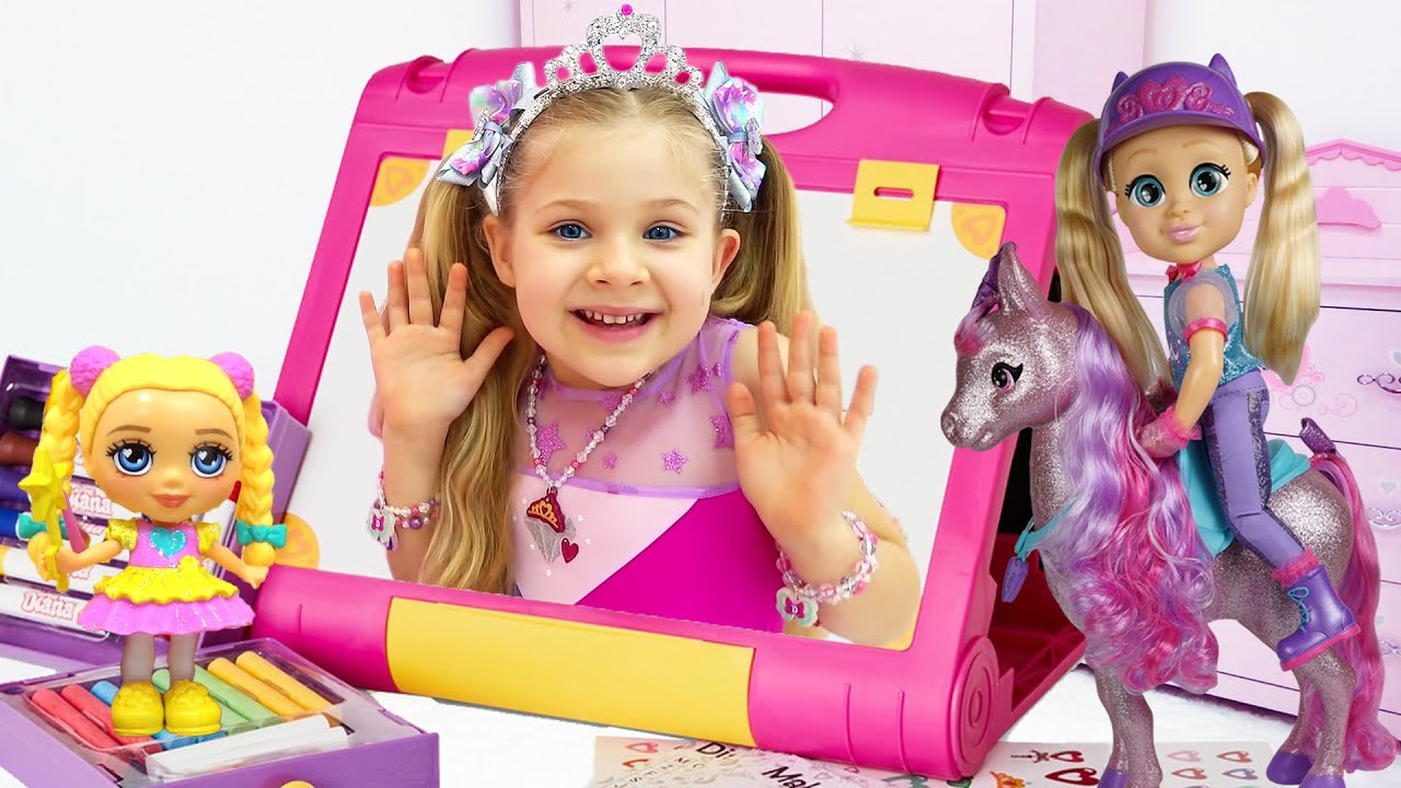 """Diana and Roma Pretend Play """"Love, Diana"""" Stories for kids"""
