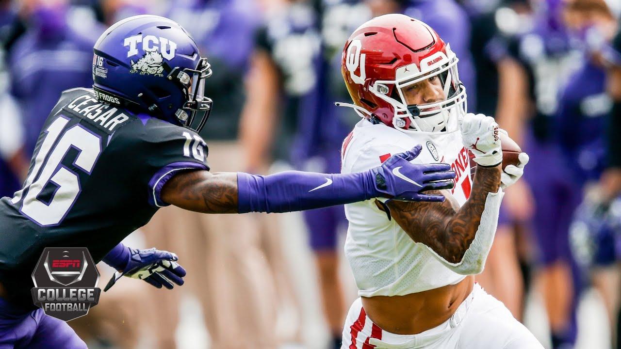 Oklahoma Sooners vs. TCU Horned Frogs | 2020 College Football Highlights