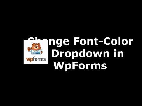 Way to Alter Drop Down Font Color in WpForms