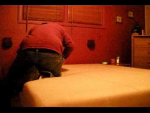 Cutting an old Bed In A Box Foam mattress