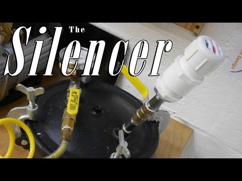 Exhaust Silencer for Pressure Pot/Tank MOD: Clear Resin Casting Safety