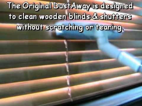 The Original DustAway - Wooden Blinds & Shutters - The quickest & easiest clean ever!!!